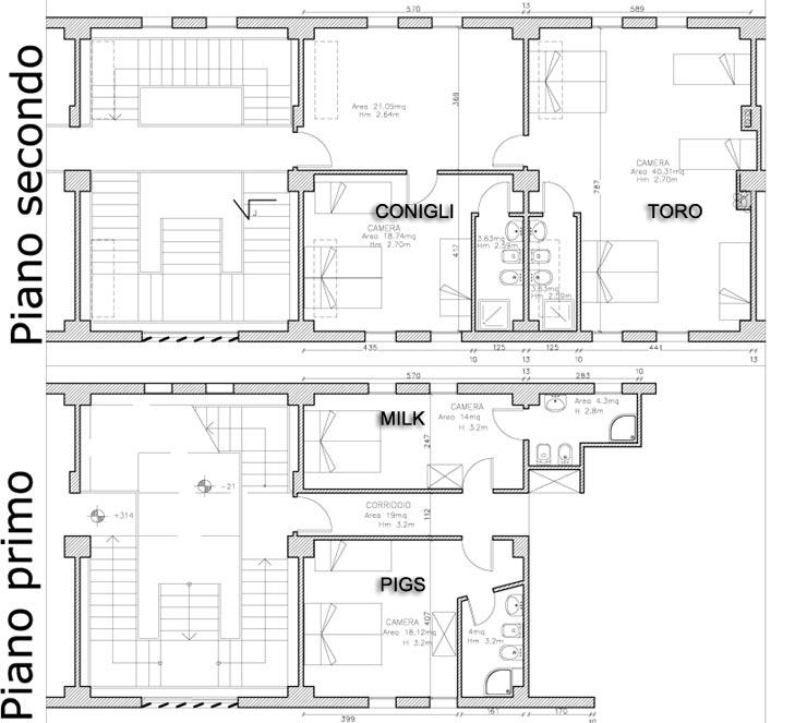 Ospitalita 39 le stanze di altaura a casale di scodosia for Planimetria stanza